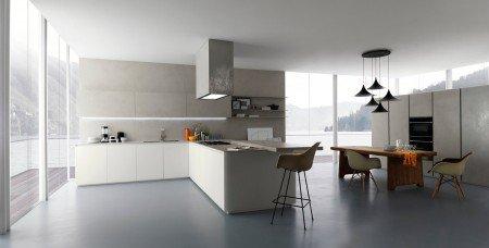 Vloercoating in een design keuken